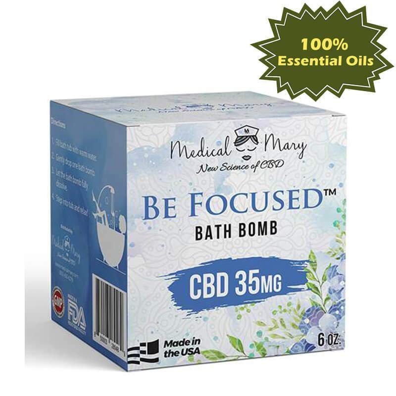 CBD 35mg Be Focused Bath Bomb