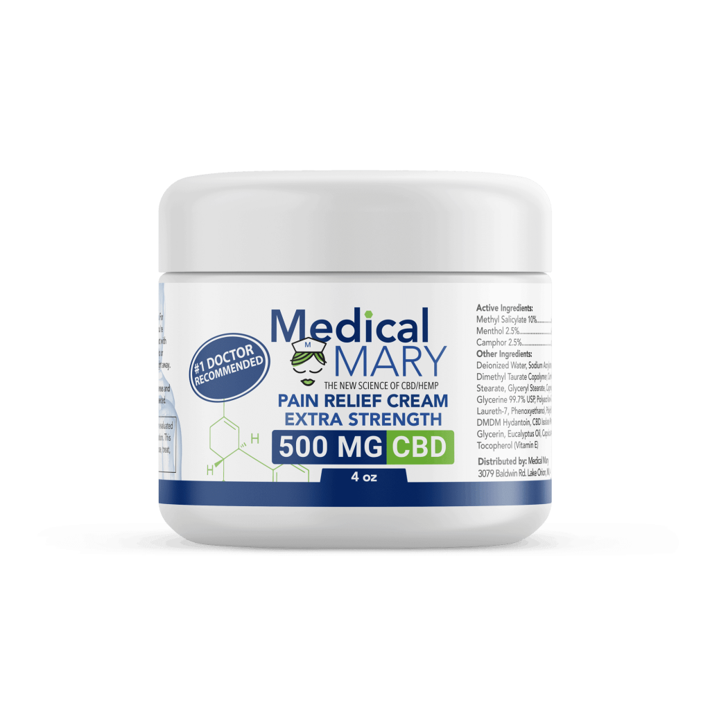 Best Pain Cream CBD from Medical Mary. Topical CBD 500mg